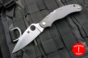 Spyderco Caly 3.5 Satin Drop Point Knife Carbon Fiber Handle C144CFPE