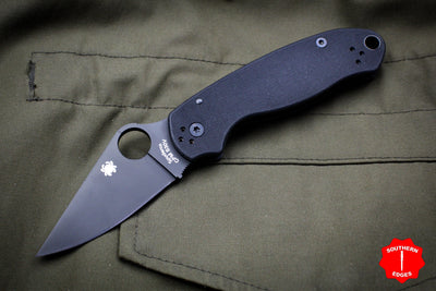 Spyderco Para 3 Black with Black CPM S30V Steel Folder C223GPBK