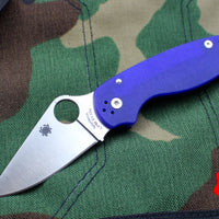 Spyderco Para 3 Blue with Satin CPM S110V Steel Folder C223GPDBL