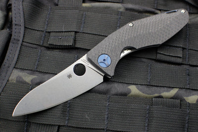Spyderco Sinkevich Drunken Framelock Folding Knife Carbon Fiber Handle C235CFTIP