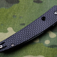 Spyderco Ikuchi Carbon Fiber Handle Satin Flat Ground Compression Lock C242CFP