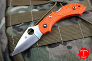 Spyderco Dragonfly Compact Folding Knife Orange FRN Handles C28POR2