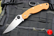 Spyderco Military Folding Knife Sprint Run Burnt Orange Rex 45 Steel Satin Blade C36GPBORE