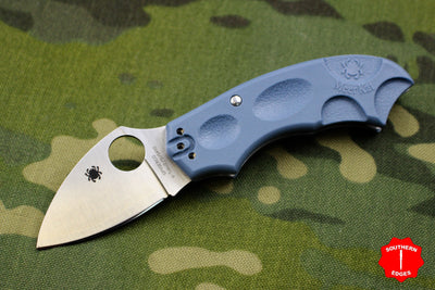 Meerkat Sprint Run Blue Handle V-TOKU2/SUS410 Satin Flat Ground Scale Release Knife C64PBLE