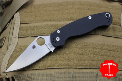 Spyderco Paramilitary 2 Black with Satin CPM S30V Steel Folder C81GP2