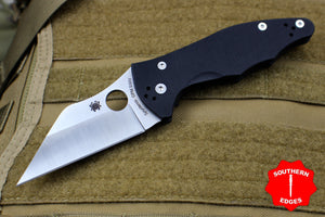 Spyderco Yojimbo Black Folder with Wharncliffe Satin Blade C85GP2
