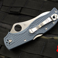 Stretch Sprint Run Blue Handle V-TOKU2/SUS310 Satin Flat Ground Lockback Knife C90FPBLE2