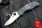 Spyderco Stretch British Racing Green Handle Satin Flat Ground Lockback Knife C90PGRE2