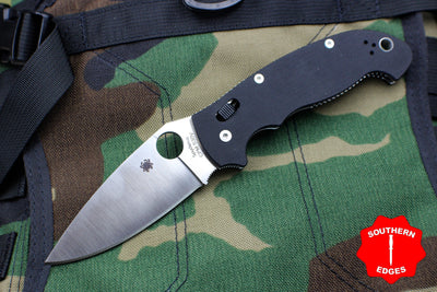 Spyderco Manix 2 XL Black G-10 with Satin CPM S30V Steel Folder C95GP2