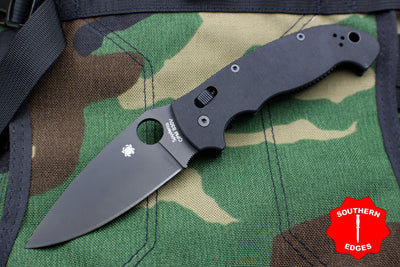 Spyderco Manix 2 XL Black G-10 with Black CPM S30V Steel Folder C95GPBBK2