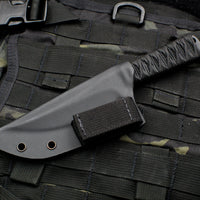 Strider Knives WP Straight Back Persian Style Fixed Blade with Bastinelli Knives Cord-wrapped Handle