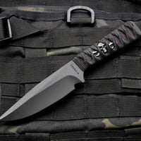 Strider Knives WP Drop Point Fixed Blade with Bastinelli Knives Cord-wrapped Handle with Menuki