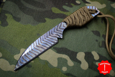 Strider Knives Flamed Titanium Fixed Blade Sheepsfoot Knife