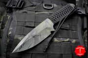 Strider Knives WP Drop Point Medium Fixed Blade with Black Multicam Finish -G-