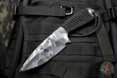 Strider Knives WP Fixed Blade with Urban Camo Finish Black Cord