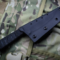 Strider Knives WP Tanto Fixed Blade with Bastinelli Knives Cord-wrapped Handle and Menuki