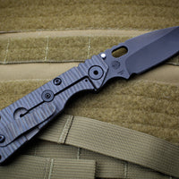 Strider Knives SnG 2020 LVCKS Black PVD Drop Point Flamed Ti Lock Side
