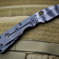 Strider Knives SnG 2020 LVCKS Tiger Stripe Drop Point Flamed Ti Lock Side