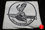Southern Edges Bomber Girl T-Shirt