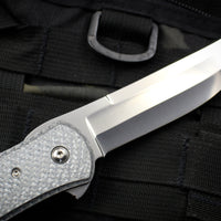 Bob Terzuola Custom One Off Persian Style Flipper Silver Carbon Fiber