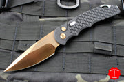 Protech TR-5 Tactical Response 5 Limited Blade Show 2019 Black Fish Scales with Rose Gold Blade