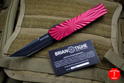 Twist Tighe LARGE Tanto Edge OTF Red with Black Plain Edge Blade 1300-5 RD
