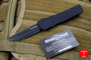 Twist Tighe LARGE Tanto Edge OTF Black with Black Plain Edge Blade 1300-5