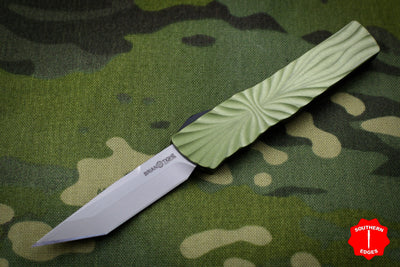 Twist Tighe SMALL Tanto Edge OTF OD Green with Two-Tone Beadblast Plain Edge Blade 1300-2 OD