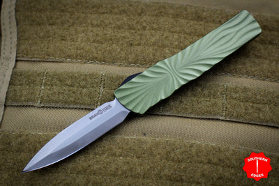 Twist Tighe SMALL Double Edge OTF OD Green with Two-Tone Beadblast Plain Edge Blade 1301-3 OD