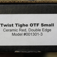 Twist Tighe SMALL Double Edge OTF Red with Two-Tone Beadblast Plain Edge Blade 1301-3 RD