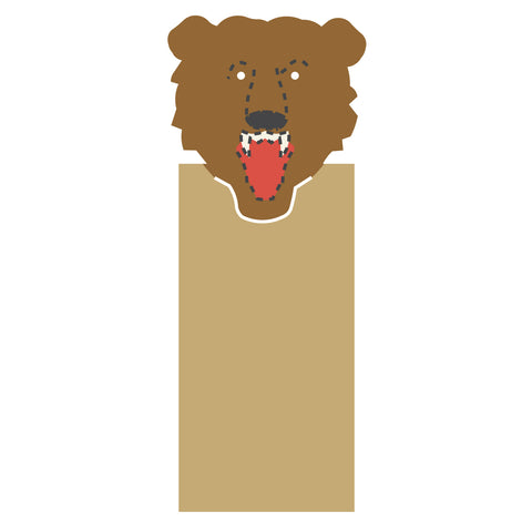 Bookmark-Bear Mascot