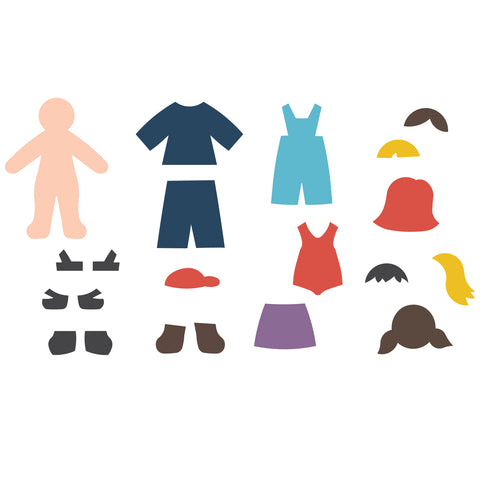 Jill's Paper Doll World Child Set