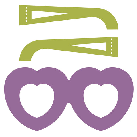 Glasses Front-Hearts