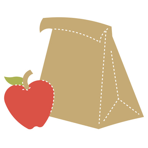 Lunch Bag w/Apple