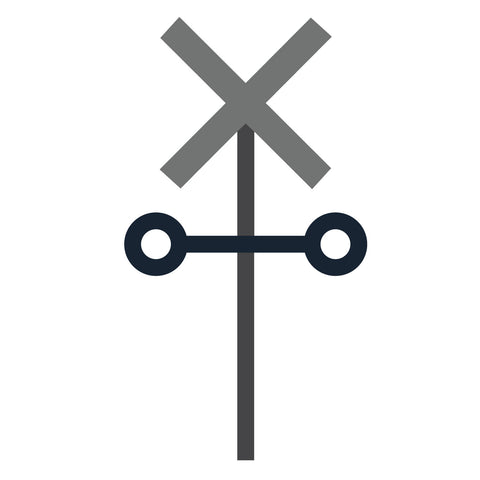 Sign-Railroad Crossing