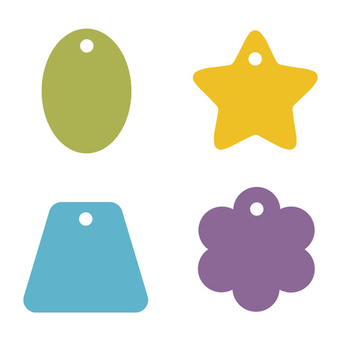 Gift Tags, Star Tag, Flower Tag, Oval Tag