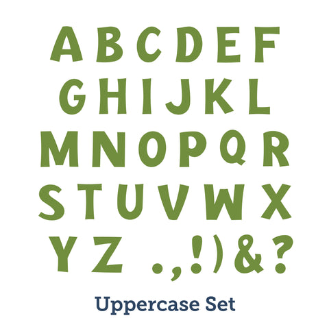 Happy Day Uppercase Alphabet