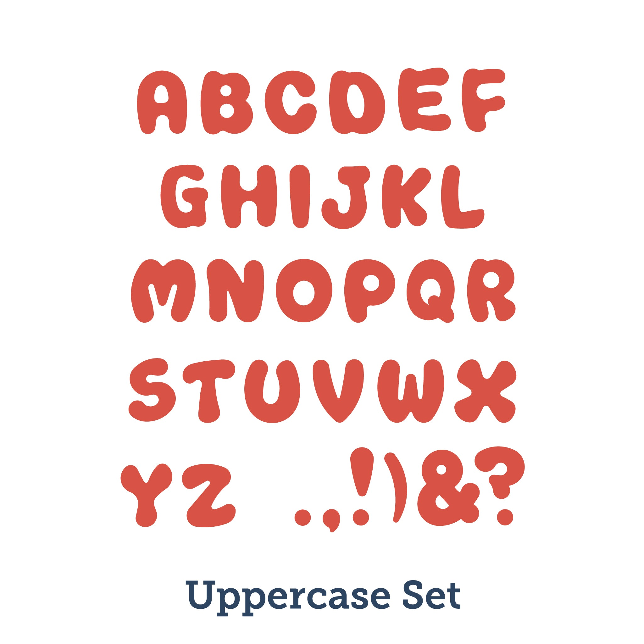 products bands jellybean accucut uppercase alphabet inch