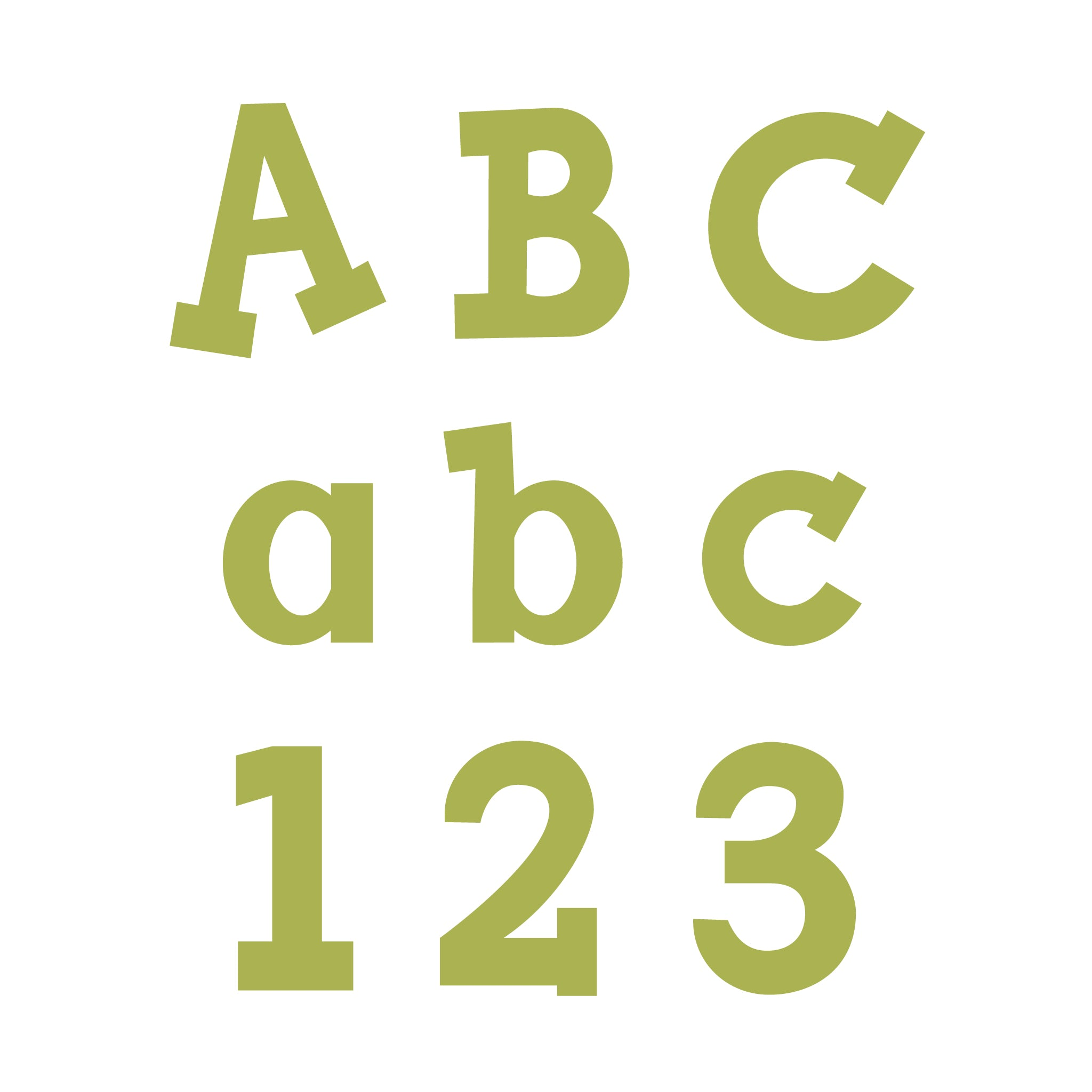 vintage inch abcd uppercase bands accucut alphabet products