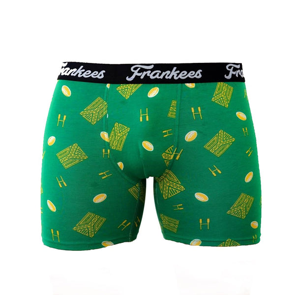 Long Leg Trunks - Green & Gold