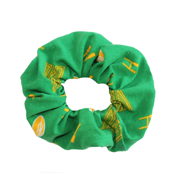 Scrunchie - Green & Gold
