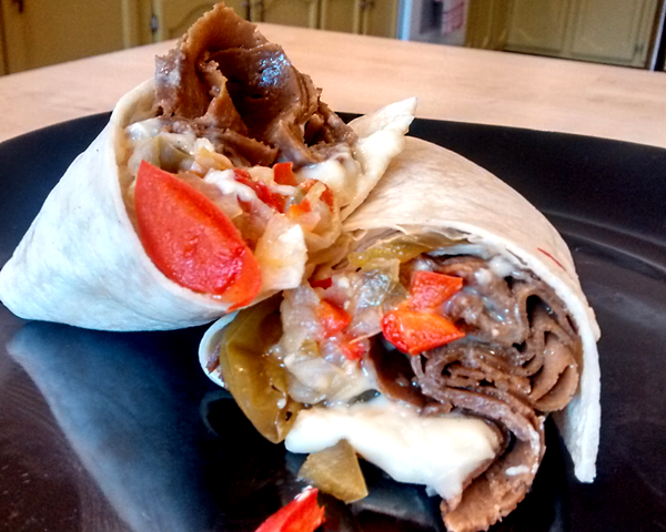 Philly Cheezesteak Burrito (DF/V)