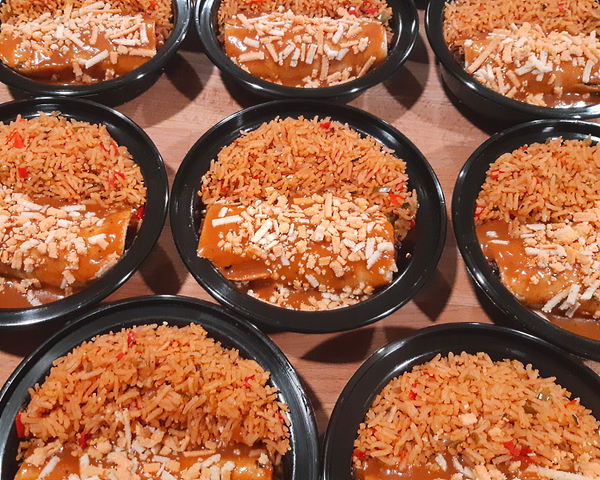 Enchilada with Spanish Rice Dinner (Gluten Free)