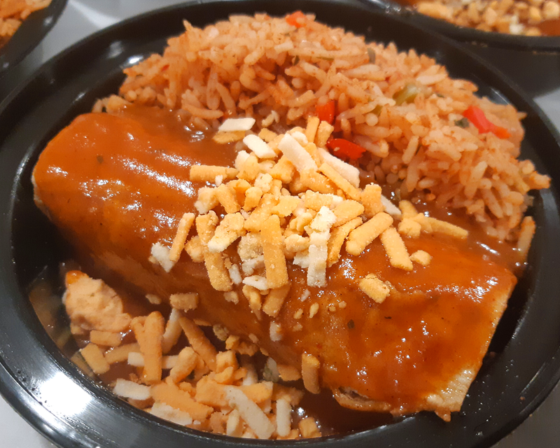 Enchilada with Spanish Rice Dinner (GF/DF/V)
