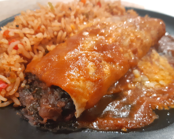 Enchilada with Spanish Rice Dinner