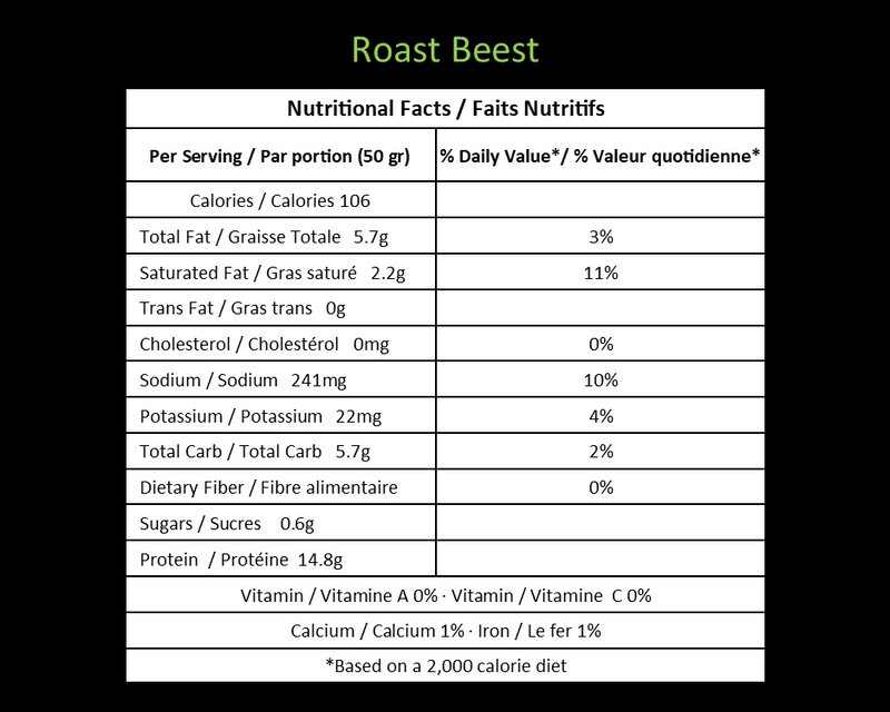 Roast Beest - Deli Shaved (DF/V)