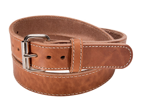Stitched CCW Full Grain Leather Gun Belt