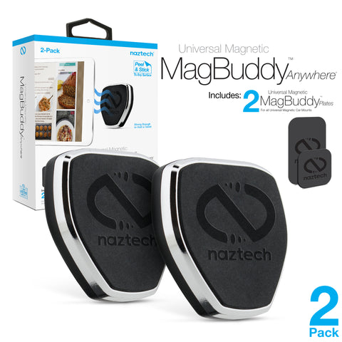 Naztech MagBuddy Universal Magnetic Anywhere Mount Black