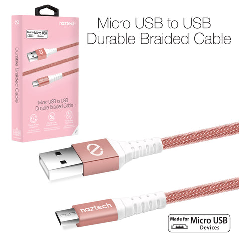 Naztech Braided Micro USB Charge & Sync Cable