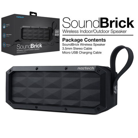 Naztech SoundBrick Wireless Speaker Black